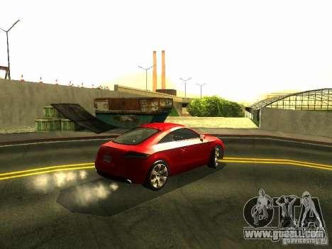 Audi TT 2009 v2.0 for GTA San Andreas back view