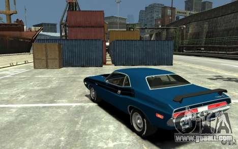 Dodge Challenger R/T Hemi 1970 for GTA 4 back left view