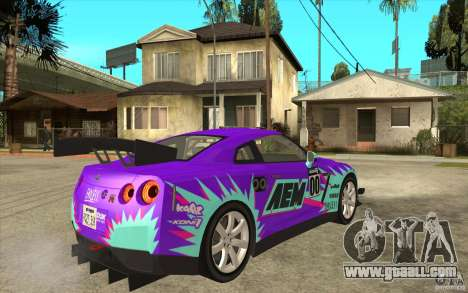 Nissan GT R Shift 2 Edition for GTA San Andreas back view
