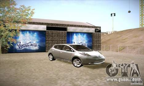 Nissan Leaf 2011 for GTA San Andreas right view