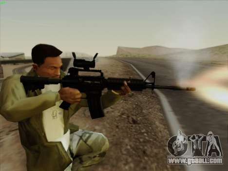 Colt Commando Aimpoint for GTA San Andreas fifth screenshot