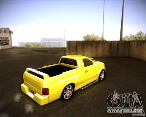 Dodge Dakota tuning for GTA San Andreas back left view