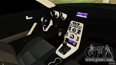 Hyundai Genesis Coupe 2010 for GTA 4 inner view
