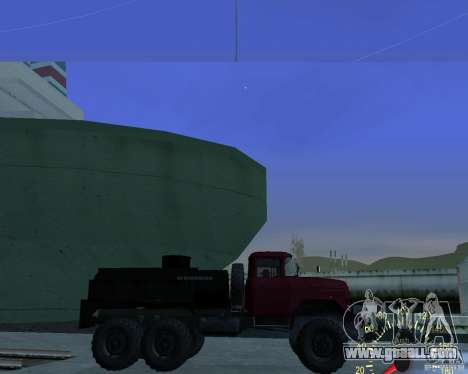 ZIL 131 Tanker for GTA San Andreas left view