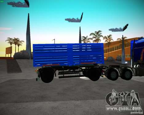 Kamaz 65117 Grain trailer for GTA San Andreas left view