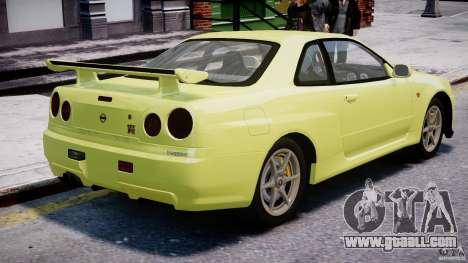 Nissan Skyline R-34 V-spec for GTA 4 interior