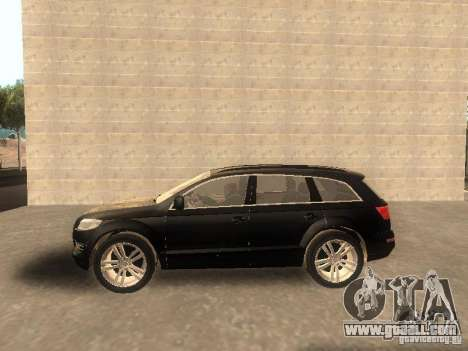 Audi Q7 TDI Stock for GTA San Andreas left view