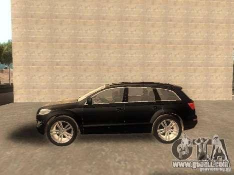 Audi Q7 TDI Stock for GTA San Andreas left view