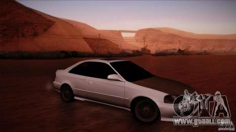 Honda Civic Coupe Si Coupe 1999 for GTA San Andreas left view
