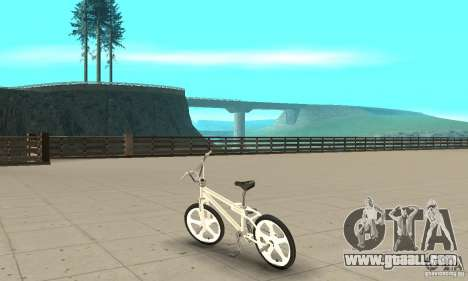 Skyway BMX for GTA San Andreas back left view
