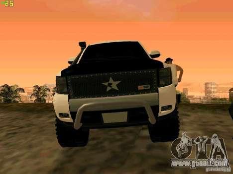 Chevrolet Silverado Final for GTA San Andreas back view