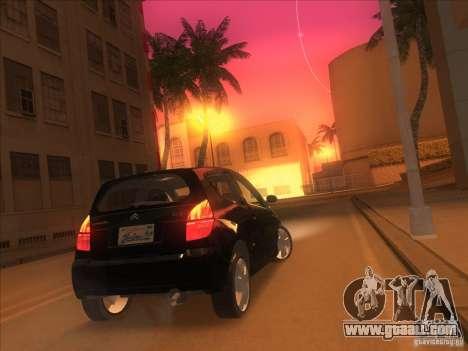 Citroen C2 for GTA San Andreas left view