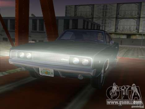 Dodge Charger 426 R/T 1968 v1.0 for GTA Vice City back left view