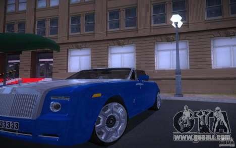 Rolls-Royce Phantom Drophead Coupe for GTA San Andreas back view