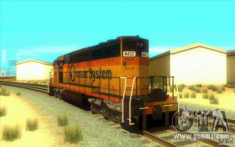 Chessie System sd40-2 for GTA San Andreas back left view
