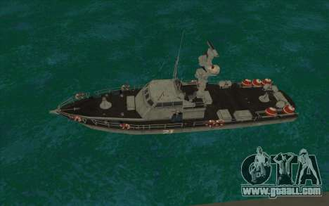 Military boat from CODMW3 for GTA San Andreas left view