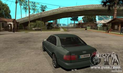 Audi A8 Long 6.0 2000 for GTA San Andreas back left view