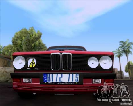 BMW 5-er E28 for GTA San Andreas side view