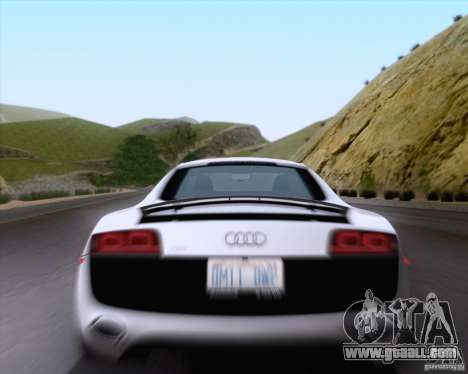 Audi R8 v10 2010 for GTA San Andreas back view