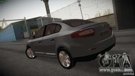 Renault Fluence for GTA San Andreas back left view