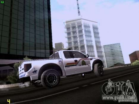 Ford Raptor Royal Canadian Mountain Police for GTA San Andreas back view