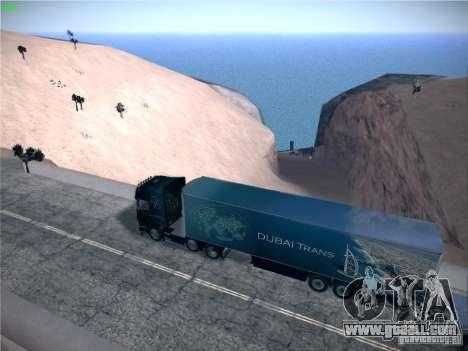 Trailer for Scania R620 Dubai Trans for GTA San Andreas left view