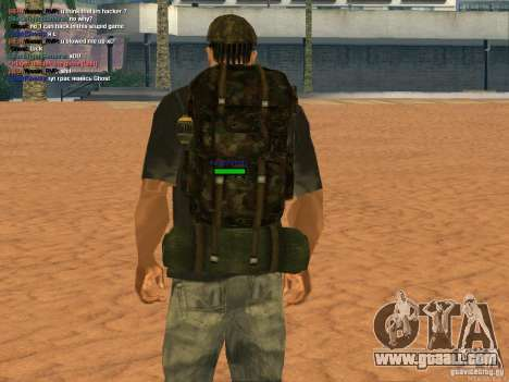 Military backpack for GTA San Andreas third screenshot
