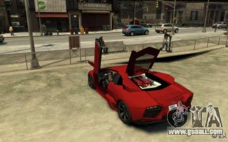 Lamborghini Reventon Coupe for GTA 4 back left view
