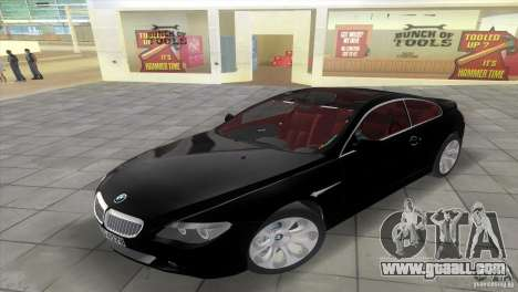 BMW 645Ci for GTA Vice City right view
