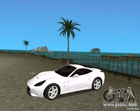 Ferrari California for GTA Vice City right view