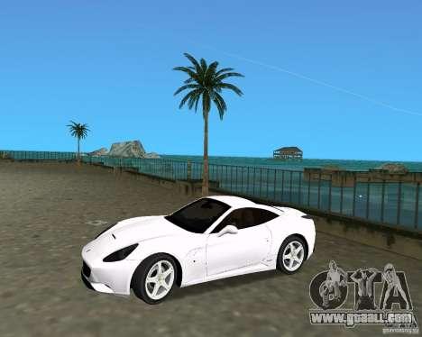 Ferrari California for GTA Vice City right view