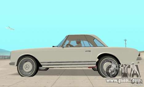 Mercedes-Benz 280SL (glossy) for GTA San Andreas back left view
