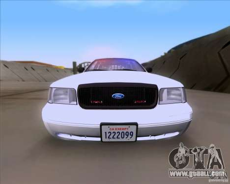 Ford Crown Victoria 2009 Detective for GTA San Andreas right view