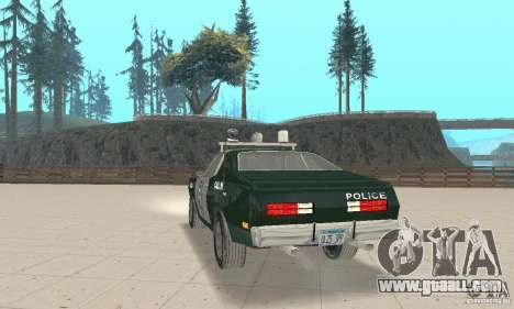 Plymouth Duster 340 Police for GTA San Andreas left view