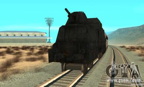 German armoured train of the second world for GTA San Andreas back left view