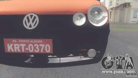VW Polo Taxi de Porto Alegre for GTA San Andreas back left view