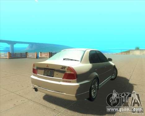 Mitsubishi Lancer Evolution VI 1999 Tunable for GTA San Andreas upper view