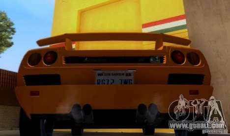 Lamborghini Diablo VTTT Black Revel for GTA San Andreas right view