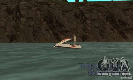 Hydrocycle for GTA San Andreas back left view