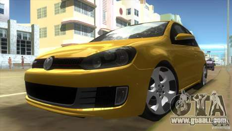 Volkswagen Golf 6 GTI for GTA Vice City left view
