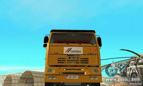 KAMAZ 53215 Tai Liebherr v1.1 for GTA San Andreas right view