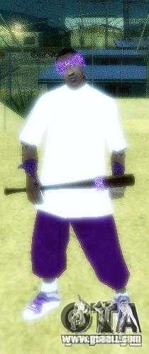 New skins The Ballas gang for GTA San Andreas