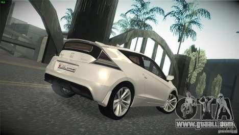 Honda CR-Z 2010 V1.0 for GTA San Andreas back view