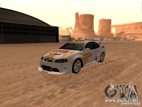 Vauxhall Monaro for GTA San Andreas wheels