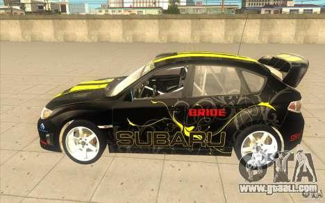 Subaru Impreza WRX STi with new vinyl unique for GTA San Andreas back view
