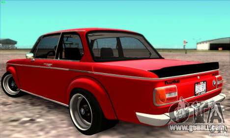 BMW 2002 Turbo for GTA San Andreas right view