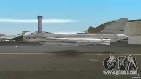 J-10 for GTA Vice City back left view