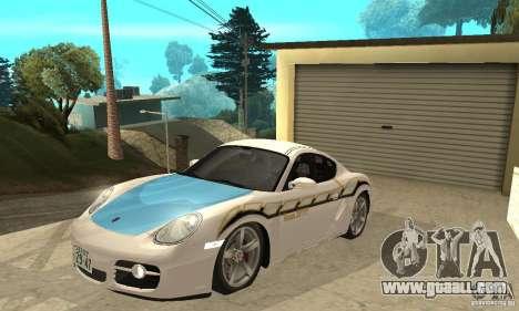 Porsche Cayman S for GTA San Andreas bottom view
