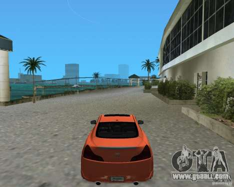 Infinity G37 for GTA Vice City left view