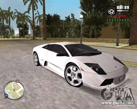 Lamborghini Murcielago V12 6,2L for GTA Vice City right view